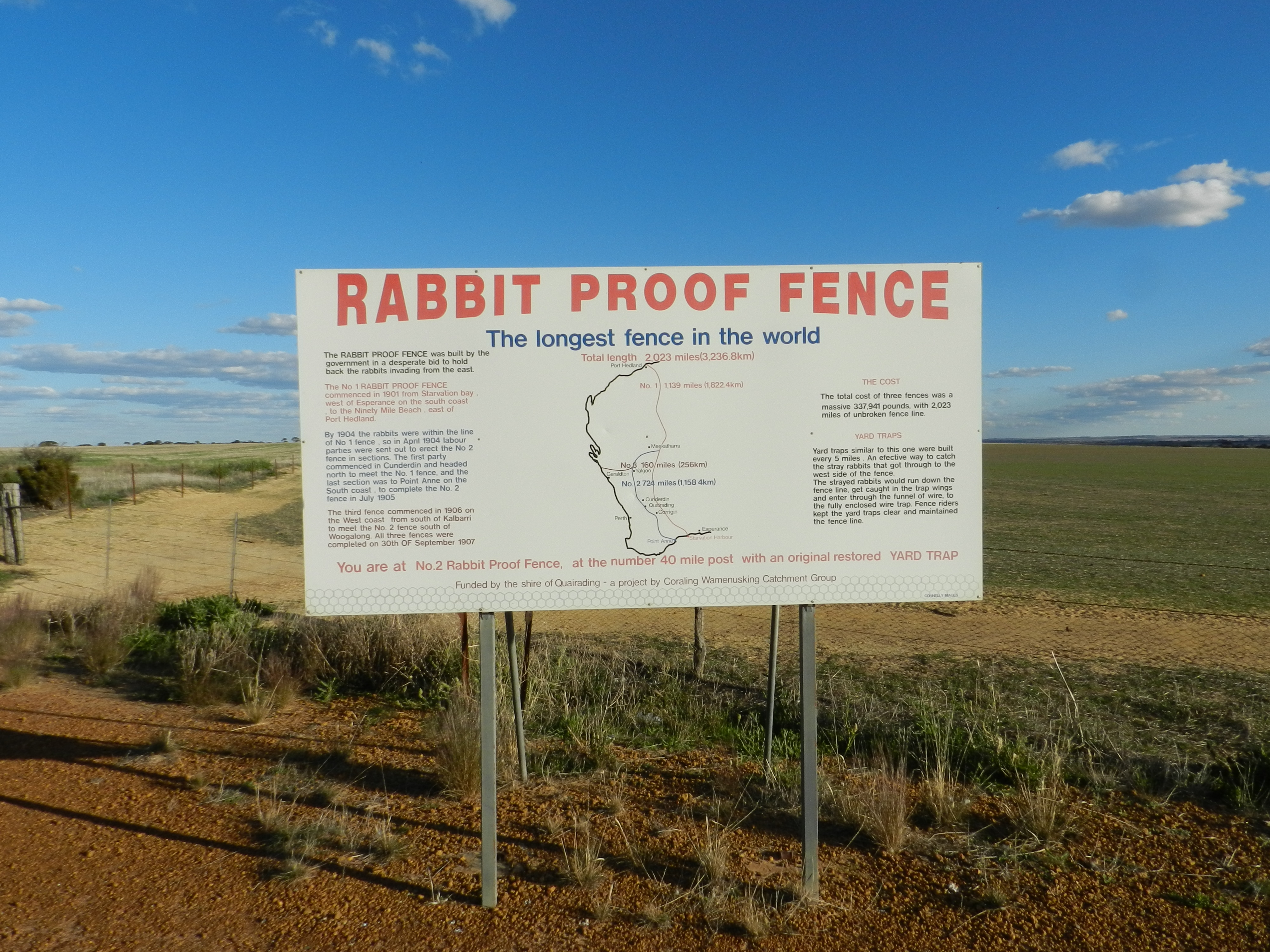 Rabbit Proof Fence Sign