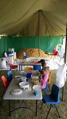 Quairading Show, 2016 - The Kids Tent at the 2016 Quairading