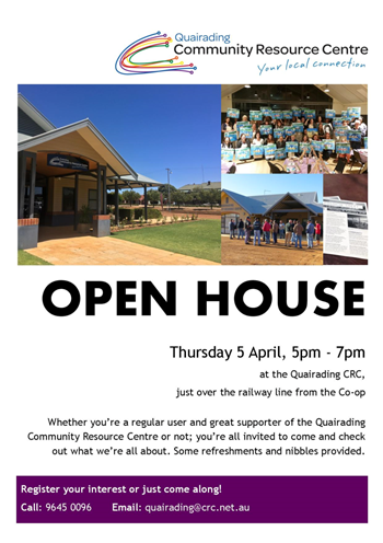 Quairading CRC Open House